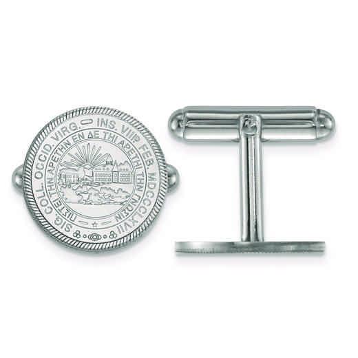 SS052WVU: SS LogoArt West Virginia University Crest Cuff Link
