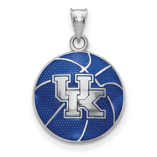 SS509UK: SS Univ of Kentucky Domed Enameled Basketball Pendant