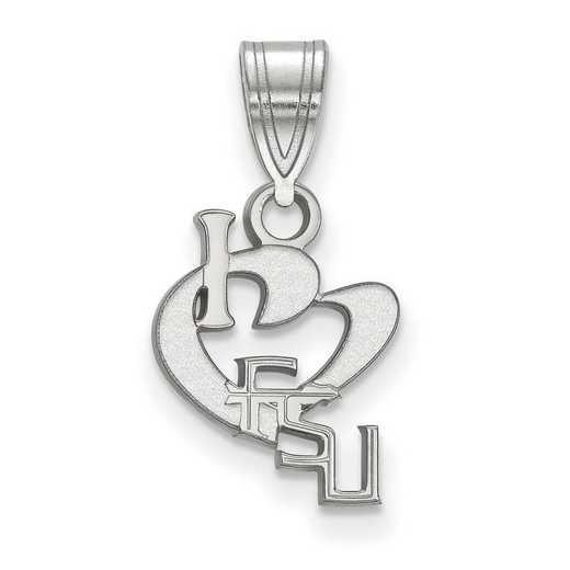 SS068FSU: SS LogoArt Florida State Univ SML I Love Logo Pendant