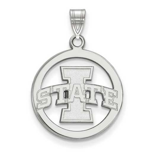 SS011IAS: SS LogoArt Iowa State UnivMed Pendant in Circle