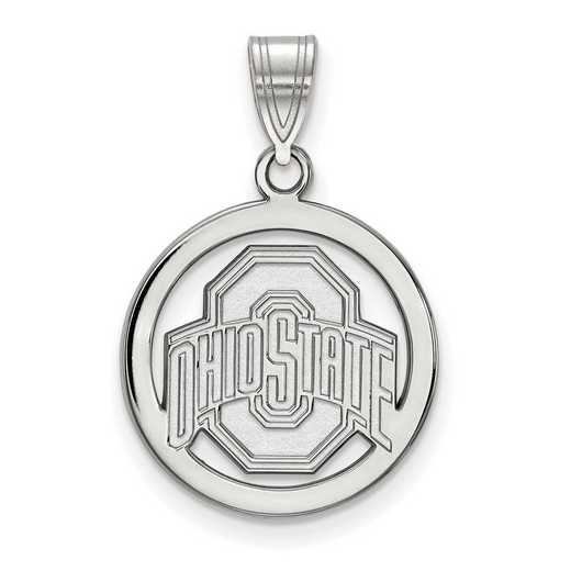 SS034OSU: SS LogoArt Ohio State Univ Med Pendant in Circle