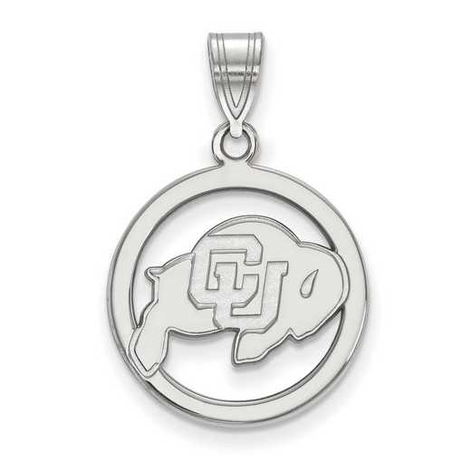 SS020UCO: SS LogoArt Univ of Colorado Medium Pendant in Circle