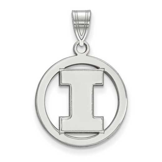 SS033UIL: SS LogoArt Univ of Illinois Med Pendant in Circle