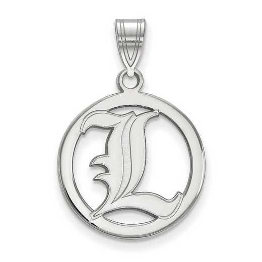 SS027UL: SS LogoArt Univ of Louisville Med Pendant in Circle
