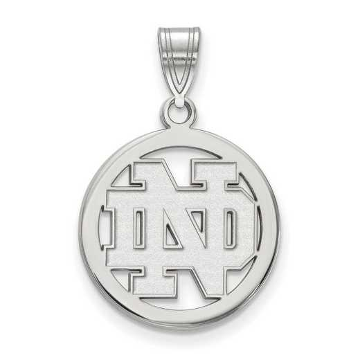 SS031UND: SS LogoArt Univ of Notre Dame Sm Pendant in Circle