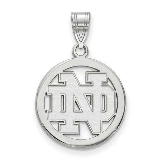 SS031UND: SS LogoArt Univ of Notre Dame Sm Pendant in Circle