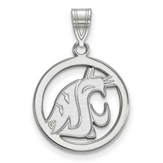 SS026WAS: SS LogoArt Washington State Med Pendant in Circle