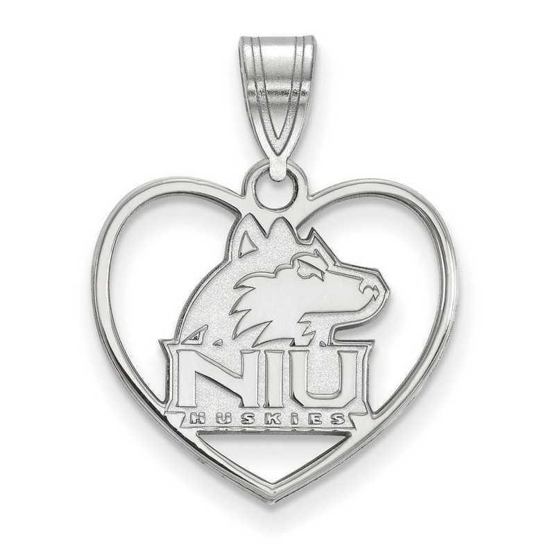 SS013NIU: SS LogoArt Northern Illinois Univ Pendant in Heart
