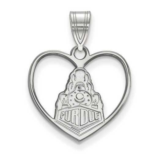SS052PU: SS LogoArt Purdue Pendant in Heart