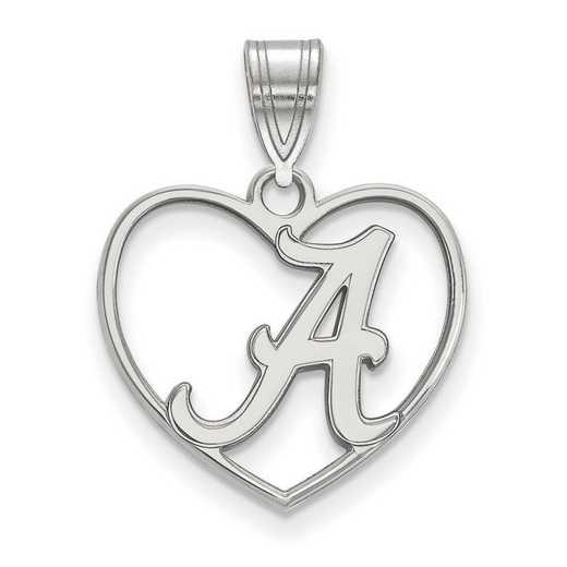 SS017UAL: SS LogoArt Univ of Alabama Pendant in Heart