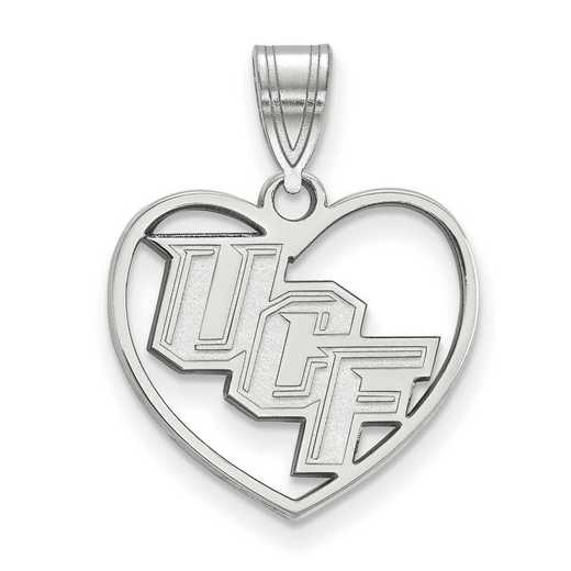 SS013UCF: SS LogoArt Univ of Central Florida Pendant in Heart