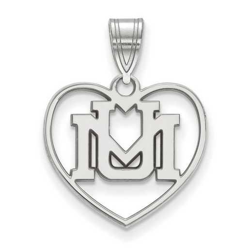 SS013UMT: SS LogoArt Univ of Montana Pendant in Heart