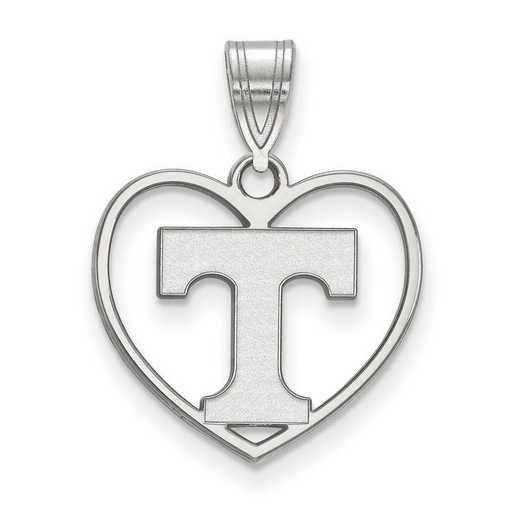 SS017UTN: SS LogoArt Univ of Tennessee Pendant in Heart