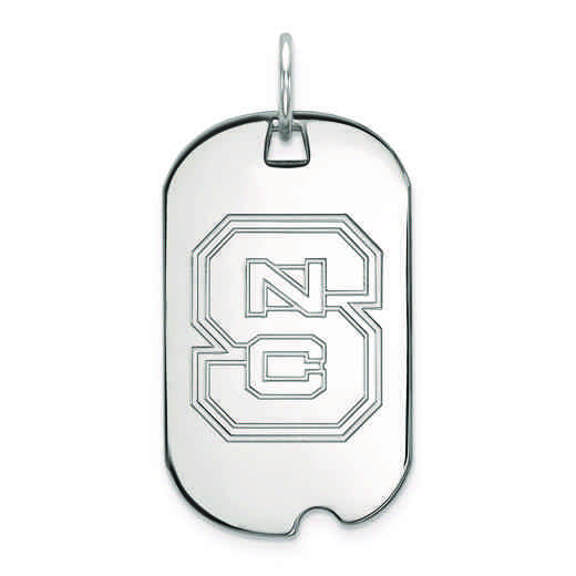 SS027NCS: SS LogoArt North Carolina State University Small Dog Tag