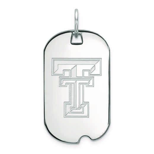 SS027TXT: SS LogoArt Texas Tech University Small Dog Tag