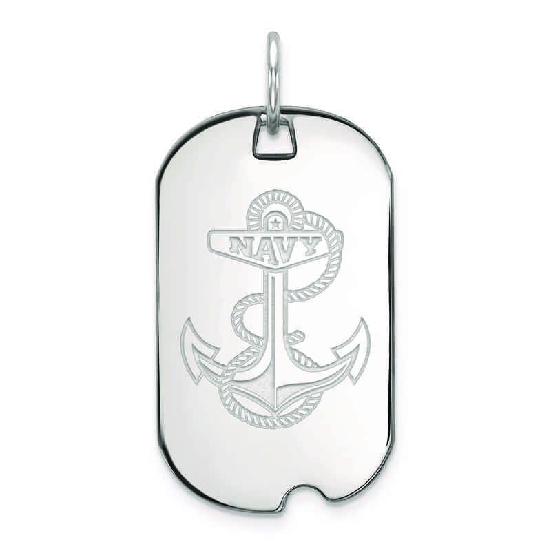 SS031USN: SS LogoArt Navy Small Dog Tag