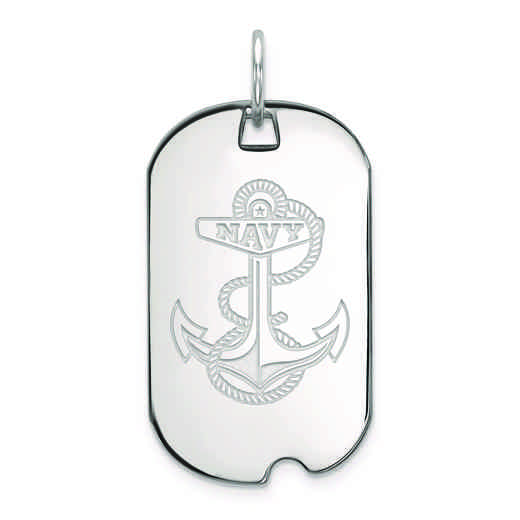 SS031USN: SS LogoArt Navy Small Dog Tag