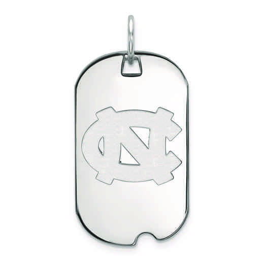 SS024UNC: SS LogoArt University of North Carolina Small Dog Tag