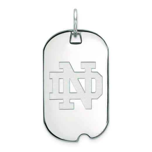 SS026UND: SS LogoArt University of Notre Dame Small Dog Tag Pendant