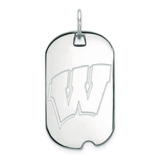 SS027UWI: SS LogoArt University of Wisconsin Small Dog Tag