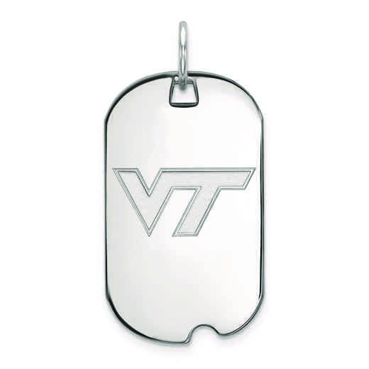 SS021VTE: SS LogoArt Virginia Tech Small Dog Tag
