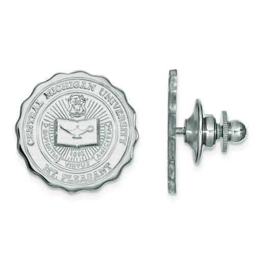 SS017CMU: SS LogoArt Central Michigan University Crest Lapel Pin