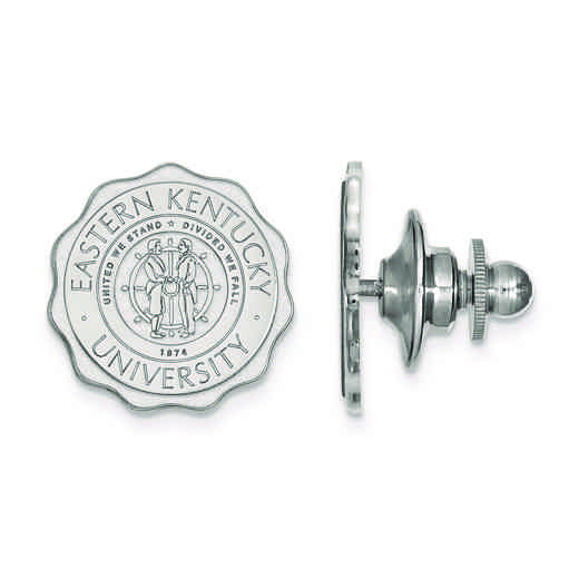 SS017EKU: SS LogoArt Eastern Kentucky University Crest Lapel Pin