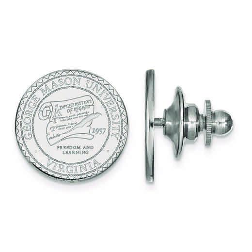 SS015GMU: SS LogoArt George Mason University Crest Lapel Pin
