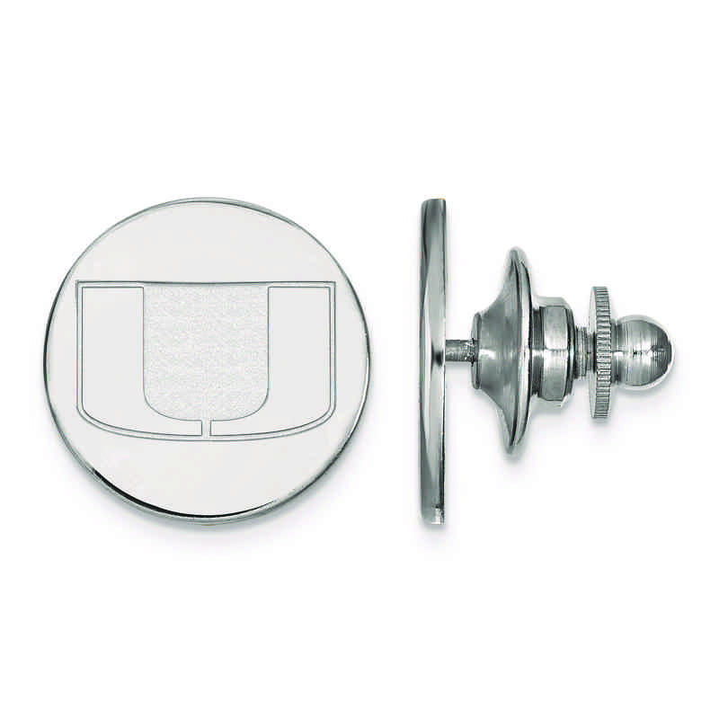 SS011UMF: SS LogoArt University of Miami Lapel Pin