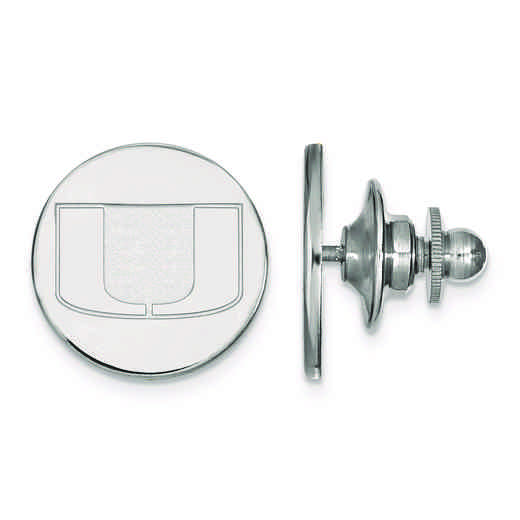 SS011UMF: SS LogoArt University of Miami Lapel Pin