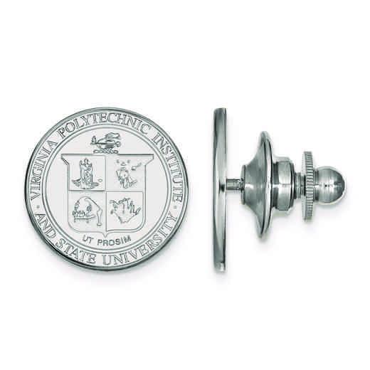 SS064VTE: SS LogoArt Virginia Tech Crest Lapel Pin