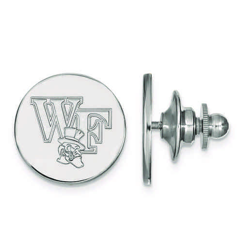 SS075WFU: SS LogoArt Wake Forest University Lapel Pin
