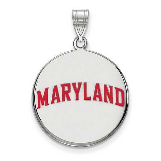 SS042UMD: SS LogoArt Maryland LG Enamel Disc Pendant