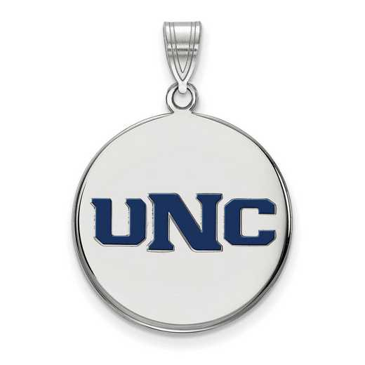 SS002UNCO: SS LogoArt U of Northern Colorado LG Enamel Disc Pendant