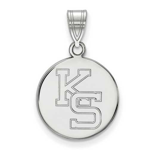 SS067KSU: SS LogoArt Kansas St Univ Medium Pendant