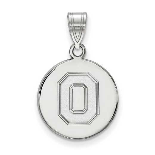 SS062OSU: SS LogoArt Ohio St Univ Medium Disc Pendant