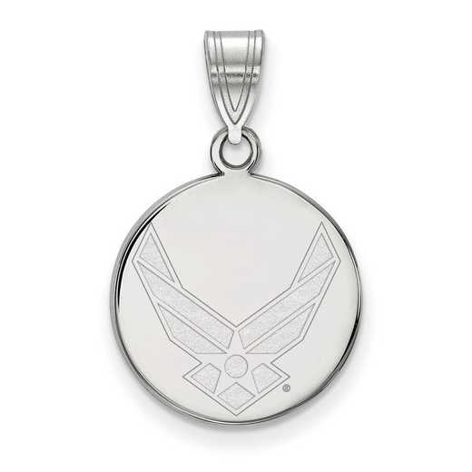 SS030USAF: SS LogoArt U.S. Air Force Academy Medium Disc Pendant