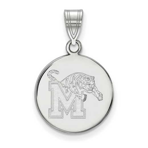 SS040UMP: SS LogoArt Univ of Memphis Medium Disc Pendant