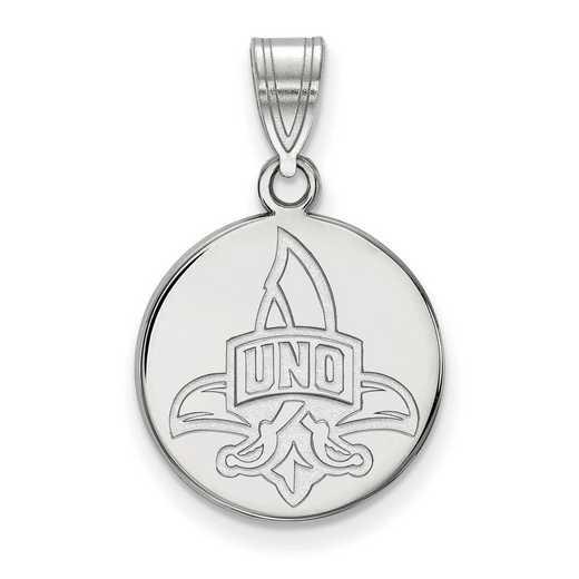 SS017UNO: SS LogoArt Univ of New Orleans Medium Disc Pendant