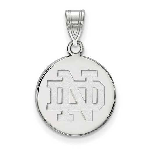 SS037UND: SS LogoArt Univ of Notre Dame Medium Disc Pendant