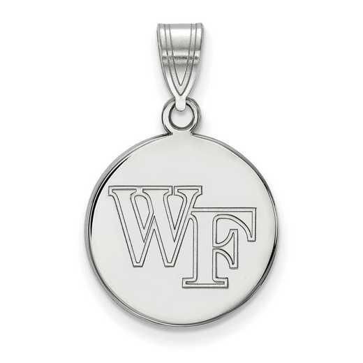SS033WFU: SS LogoArt Wake Forest Univ Medium Disc Pendant