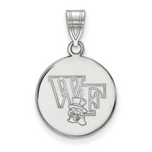 SS067WFU: SS LogoArt Wake Forest Univ Medium Disc Pendant