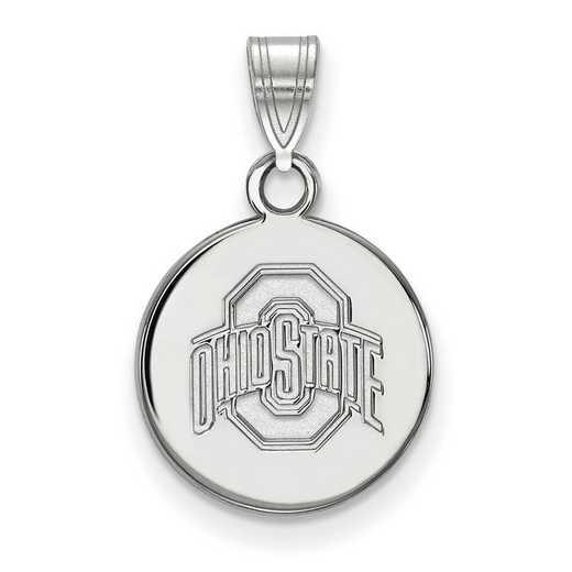 SS038OSU: SS LogoArt Ohio St Univ Small Disc Pendant