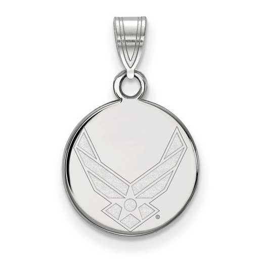 SS028USAF: SS LogoArt U.S. Air Force Academy Small Disc Pendant