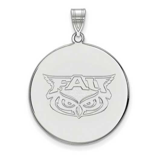 SS002FAU: SS LogoArt Florida Atlantic XL Disc Pendant