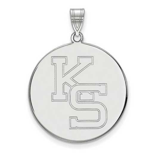 SS069KSU: SS LogoArt Kansas St Univ XL Disc Pendant