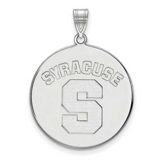 SS044SYU: SS LogoArt Syracuse Univ XL Disc Pendant