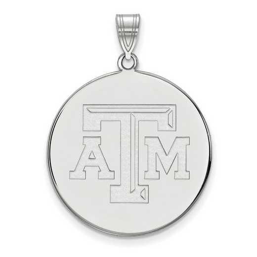 SS072TAM: SS LogoArt Texas A&M Univ XL Disc Pendant