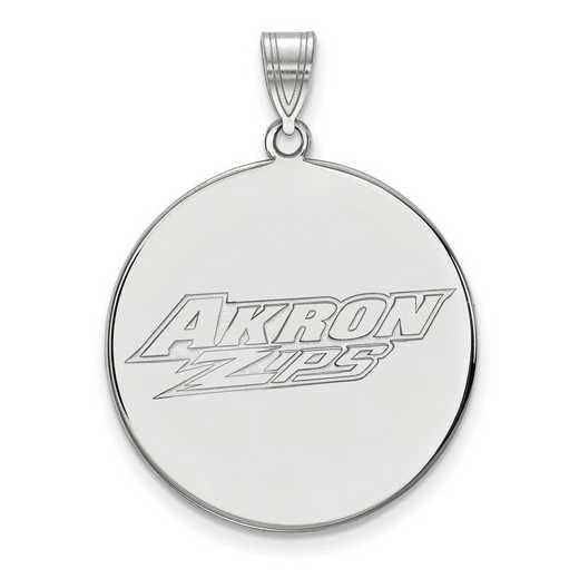 SS002UAO: SS LogoArt Univeristy of Akron XL Disc Pendant