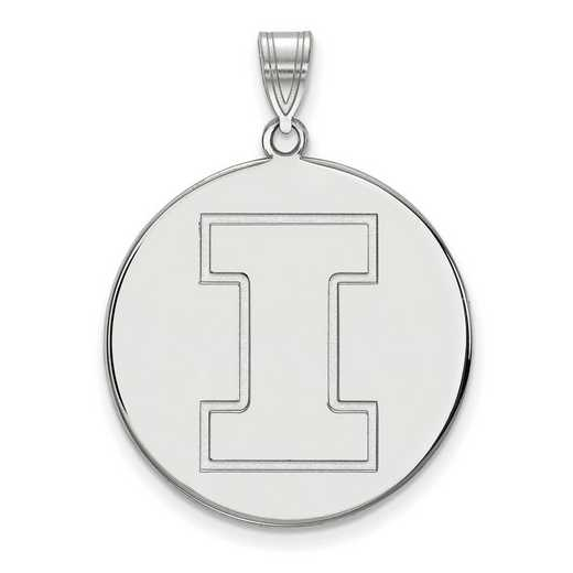 SS069UIL: SS LogoArt Univ of Illinois XL Disc Pendant